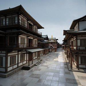 3D japan japanese street