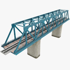 Railway Bridge v4 With Pbr 3D model