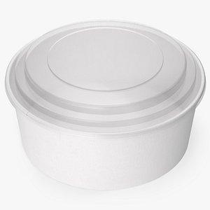 paper food bowl clear 3D model