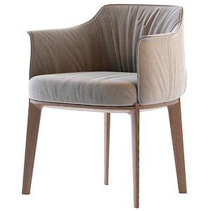 Poltrona Frau Archibald Fabric Easy Chair 3D model