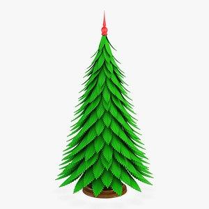 3D model cartoon christmas tree v