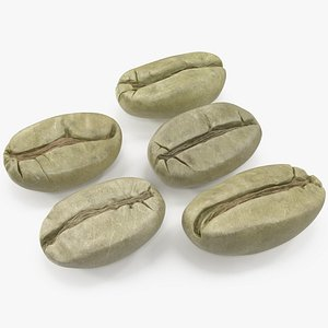 3D coffee unroasted green model