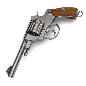 revolver gun weapon 3D