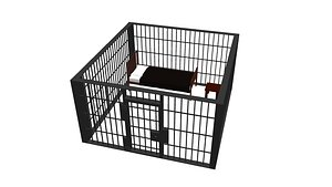 Jail Cell Low-poly 3D model
