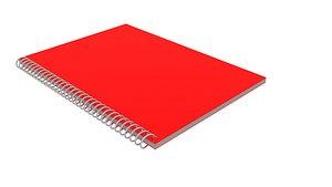 3D spiral notebook model