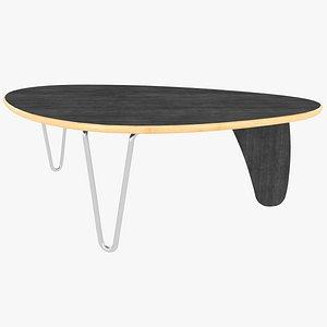 coffee table isamu noguchi 3D