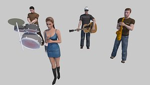 3D model character people person