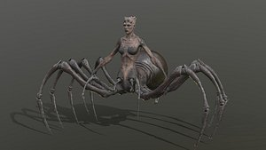 3D spider creature character