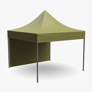 3D mockup display tent model