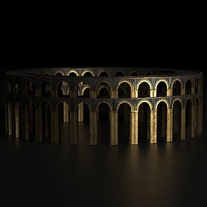 3D colosseum coliseum arena model