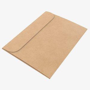 3D mockup paper envelope model