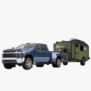 3D Chevrolet Silverado 3500 HD 2021 19