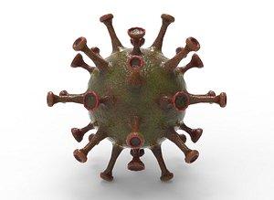 3D A set slimy virus Low-poly