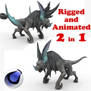 3D Batwolf Rigged and Animated