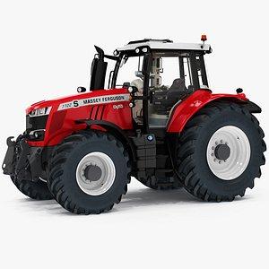 3D Massey Ferguson 7700S Farm Power Tractor model