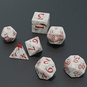 3D RPG dice asset Bloodybone
