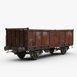 Railroad Freight Wagon 3D