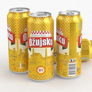 3D Beer Can Ozujsko Hrvatsko Pivo 500ml 2021 model