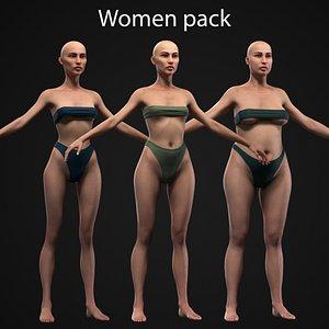 3D Women pack model