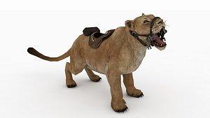 Lion Rigged 3D 3D