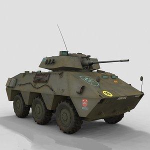 3D model Vec 20 Spanish Army
