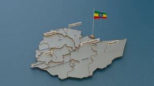ethiopia state cities 3D model