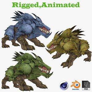 3D model Ankylosaurus 3D Rigged 3D