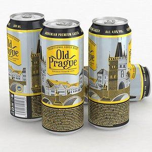 3D model Beer Can Old Prague 500ml 2021