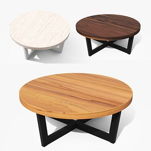 Toba Driftwood Gray Coffee Table Low 3D model