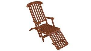 3D Titanic folding Chair model