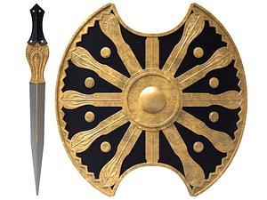 sword shield 3D model