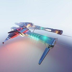 3D Sci Fi Dropship