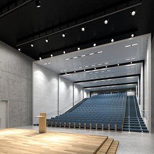 auditorium interior 3D model