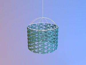 Shoal of fishes Lamp 3D model 3D model