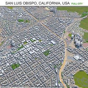 San Luis Obispo California USA 3D model