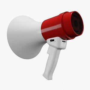 3D model megaphone phone