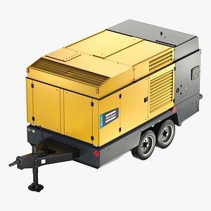 Atlas Copco Large Portable Diesel Air Compressor - DrillAir Y35 - X28 3D