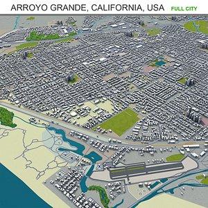 3D Arroyo Grande California USA model