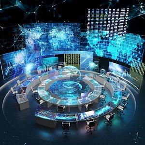 3D model Sci fi Command Center