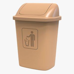 Industrial Plastic Trash Can 3D model