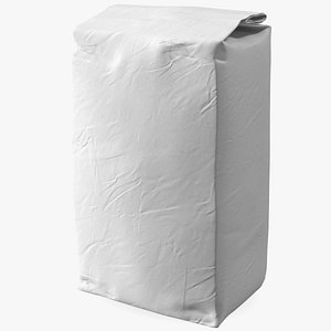 3D model Flour White Paper Bag 2lb