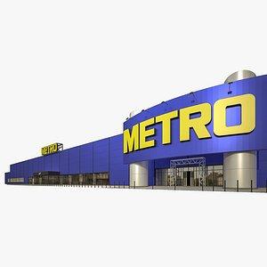 metro cash carry hypermarket 3D model