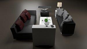 3D livingroomFurnitureA