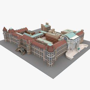 3D building museum city