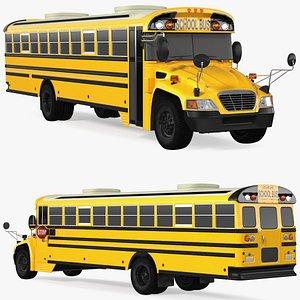 3D School Bus Exterior Only