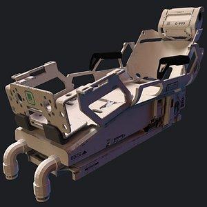 3D model Futuristic  Sci Fi Medical scifi Bed
