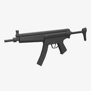 3D model firearm gun