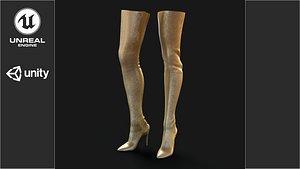 knife boots 3D model