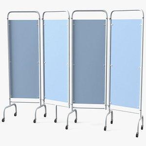3D Mobile Folding Hospital Ward Screen