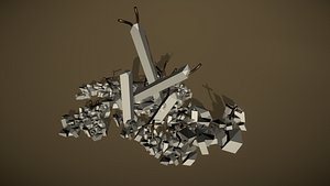 3D model rubble debris